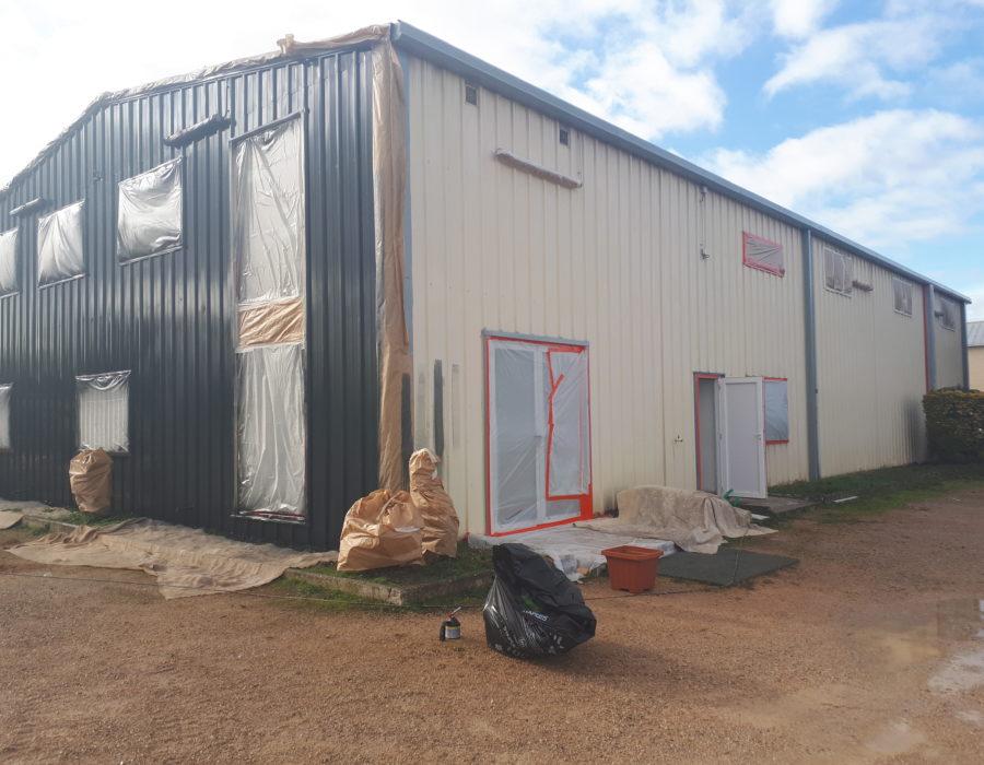 rénovation d'un bâtiment industriel