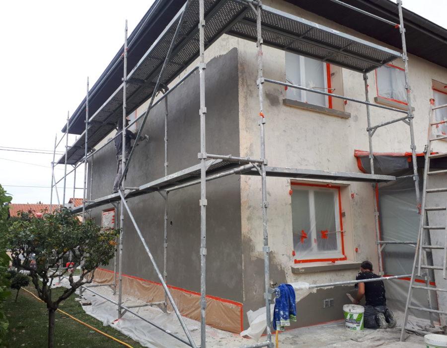 chantier de ravalement de façades à l'union
