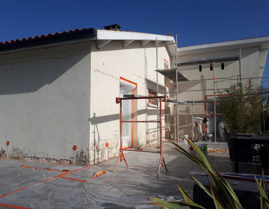 travaux ravalement de façades castelginest