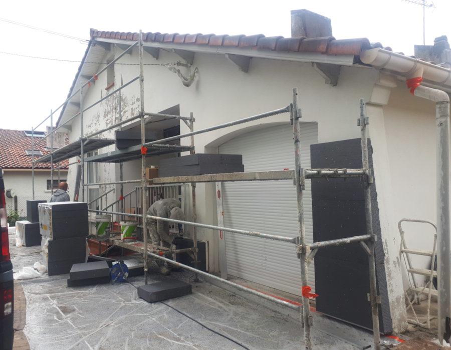 avant l'isolation des murs extérieur
